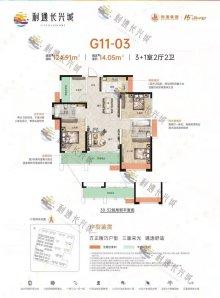 G11-3 四房户型图