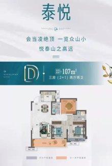 卓悦城三房户型图