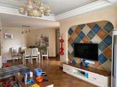 礼花小区步梯楼,3室2厅1卫125m²豪华装修,地中海风格