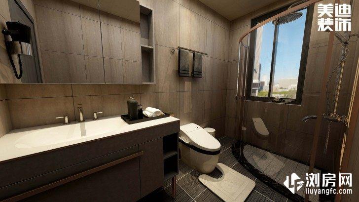 碧桂园观澜111平方米现代风格案例效果图--卫生间