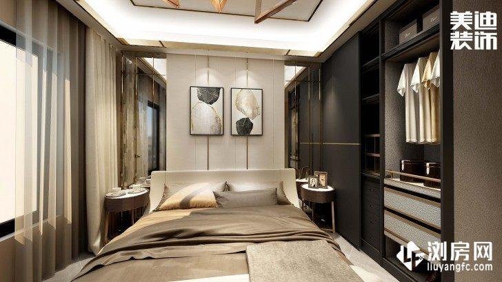 碧桂园观澜111平方米现代风格案例效果图--卧室