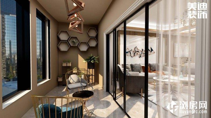 碧桂园观澜111平方米现代风格案例效果图--阳台