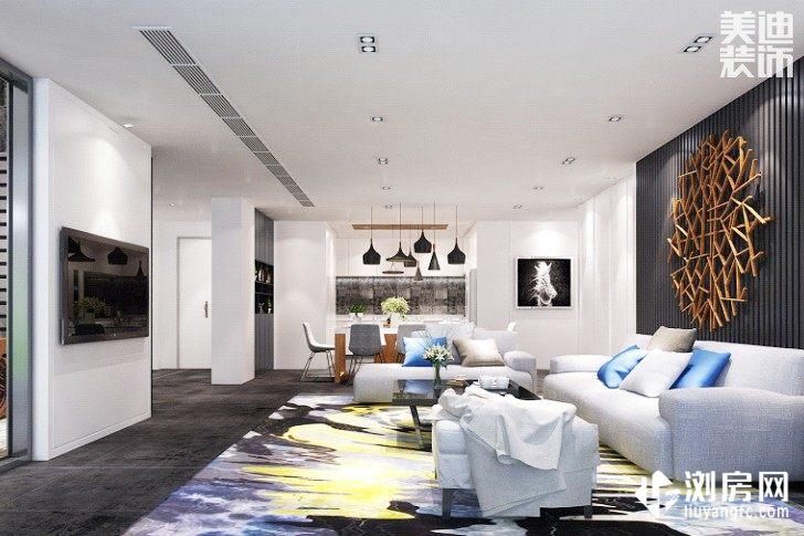 彩虹谷简美风装修案例图--客厅
